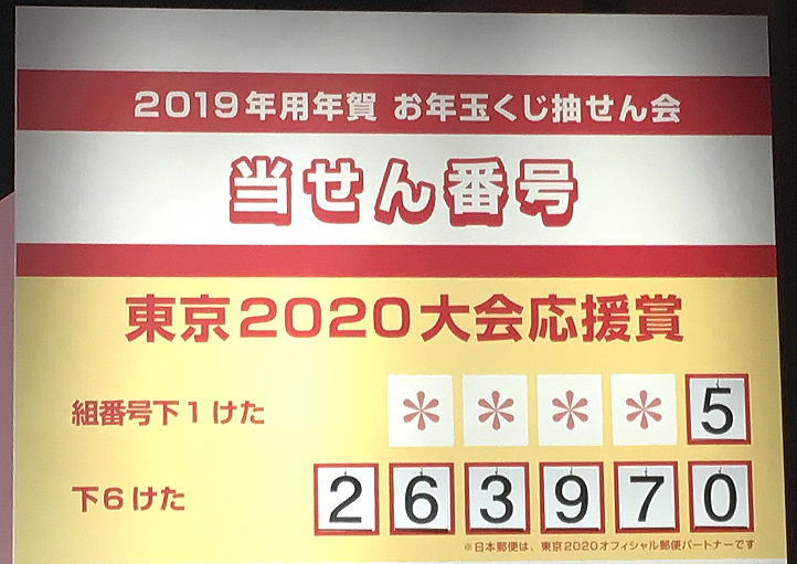 年賀状 当選番号 2019 切手シート